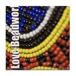 I Love Beadwork - Beads Tile Coaster