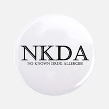 "no known drug allergies 3.5"" Button"