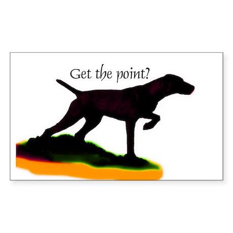 Vizsla shadow point Rectangle Sticker