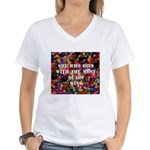 She Who Dies With The Most Be Women's V-Neck T-Shi