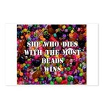 She Who Dies With The Most Be Postcards (Package o