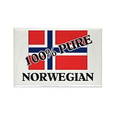 100 Percent NORWEGIAN Rectangle Magnet