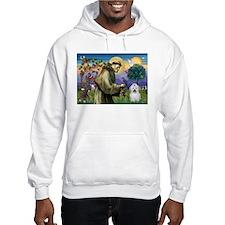 St Francis/Coton de Tulear Hoodie