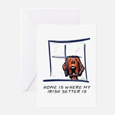 Home is Where My Setter Is Greeting Cards (Pk of 1