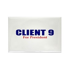 Client 9 for President Rectangle Magnet