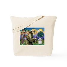 St Francis / Coton de Tulear Tote Bag
