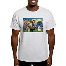 St Francis / Coton de Tulear T-Shirt