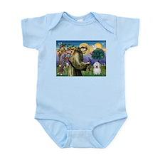 St Francis / Coton de Tulear Infant Bodysuit
