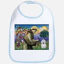 St Francis / Coton de Tulear Bib