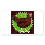 Rhode Island Red Hen2 Rectangle Sticker 50 pk)