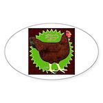 Rhode Island Red Hen2 Oval Sticker (10 pk)