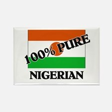 100 Percent NIGERIAN Rectangle Magnet