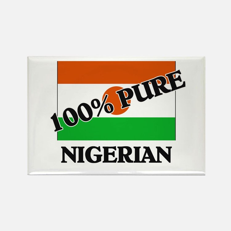 100 Percent NIGERIAN Rectangle Magnet