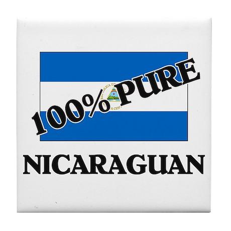 100 Percent NICARAGUAN Tile Coaster