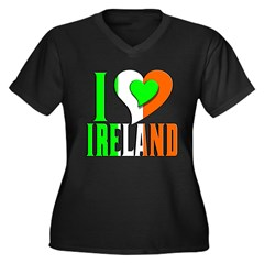 I Love Ireland, Airlann, Eire Women's Plus Size V-