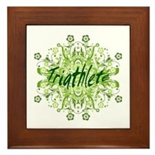 Triathlete Framed Tile