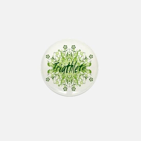 Triathlete Mini Button