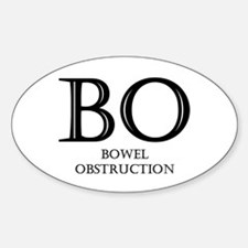 Bowel Obstruction Oval Decal
