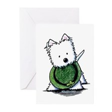 Lucky Charm Westie Greeting Cards (Pk of 10)