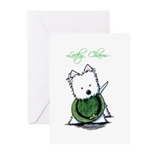 Lucky Charm Westie Greeting Cards (Pk of 20)