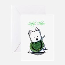 Lucky Charm Westie Greeting Card