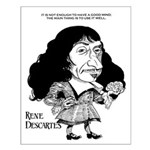 Descartes Small Poster