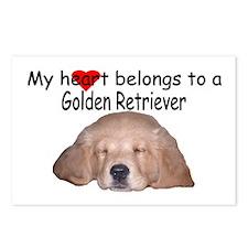 Golden Retriever My Heart Postcards (Package of 8)