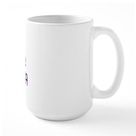 KISS ME I'M 1/2 BORIQUA HALF Large Mug