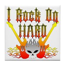 I Rock On Hard Tile Coaster