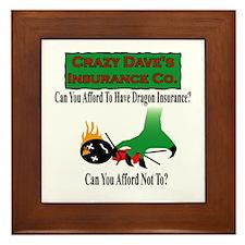 Dragon Insurance Framed Tile