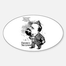 Nietzsche Oval Decal