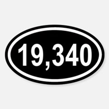 19,340 Mt. Kilmanjaro Black Euro Oval Decal