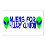 Aliens For Hillary Clinton Rectangle Sticker 10 p