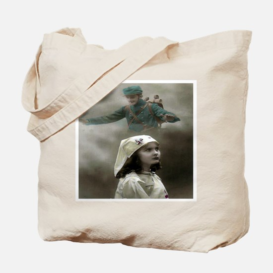 YOUNG NURSE THINKING OF SOLDI Tote Bag