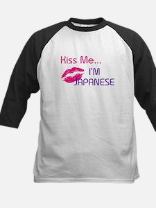 KISS ME I'M JAPANESE Kids Baseball Jersey