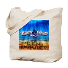 Silent Service Dolphins Under Tote Bag