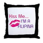 KISS FILIPINA Throw Pillow