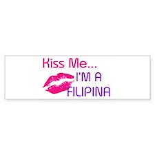 KISS FILIPINA Bumper Car Sticker