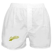 Mathlete (Gold) Boxer Shorts