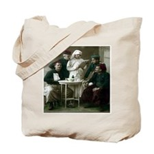 NURSE WITH SOLDIERS & CHART Tote Bag