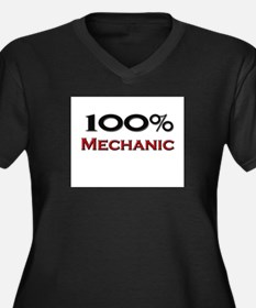 100 Percent Mechanic Women's Plus Size V-Neck Dark