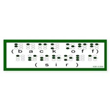 Braille Bumper Bumper Sticker
