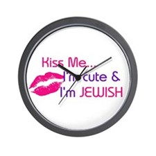 KISS ME I'M JEWISH Wall Clock