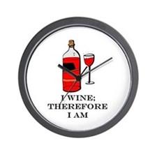 I wine therefore I am Wall Clock
