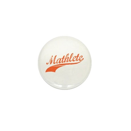 Mathlete (Tangerine) Mini Button (10 pack)