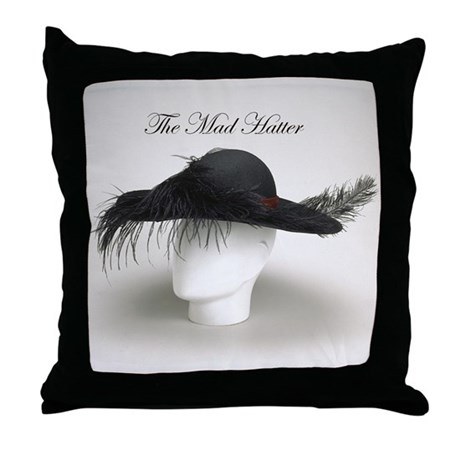 The Mad Hatter - Millinery Throw Pillow