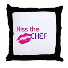 KISS THE CHEF Throw Pillow