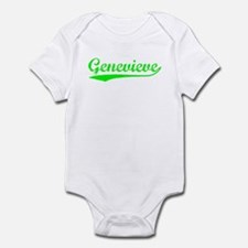 Vintage Genevieve (Green) Infant Bodysuit