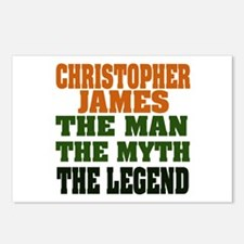 Christopher James Postcards (Package of 8)