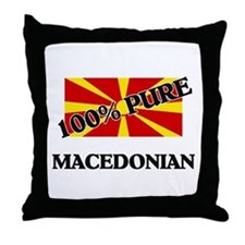 100 Percent MACEDONIAN Throw Pillow